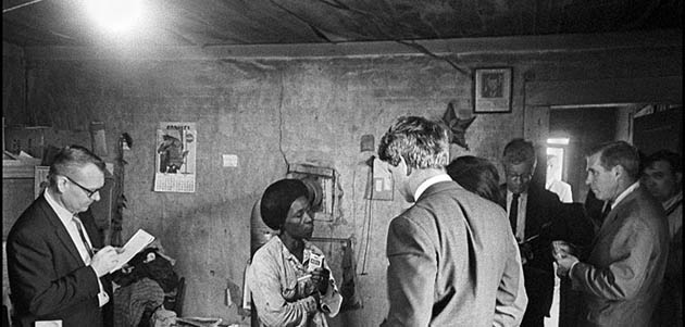 Robert Kennedy Visits Greenville Poverty